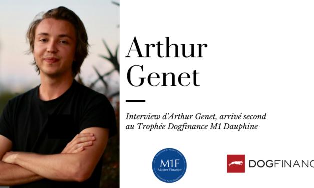 Découvrez l'interview d'Arthur Genet, arrivé second du Trophée Dogfinance M1 Dauphine