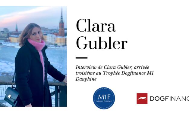Découvrez l'interview de Clara Gubler, arrivée troisième au Trophée Dogfinance M1 Dauphine
