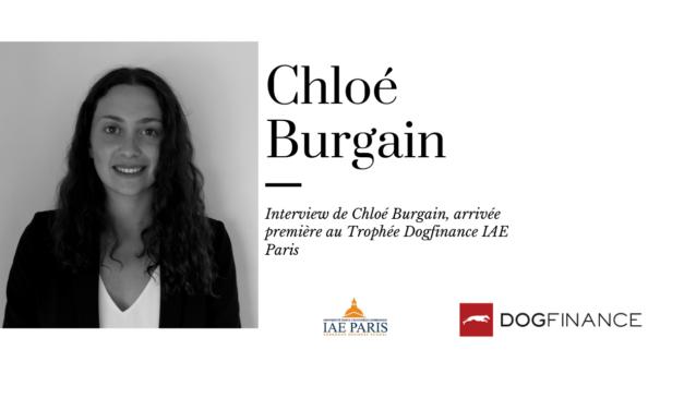 Découvrez l'interview de Chloé Burgain, arrivée première au Trophée Dogfinance IAE Paris – Sorbonne