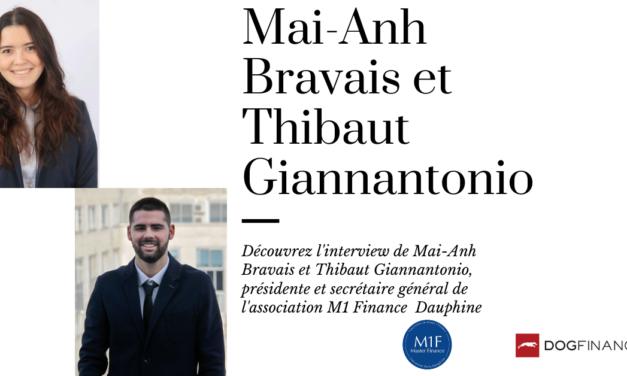 Découvrez l'interview de Mai-Anh et Thibaut, présidente et secrétaire général au sein de l'association M1 Finance Dauphine