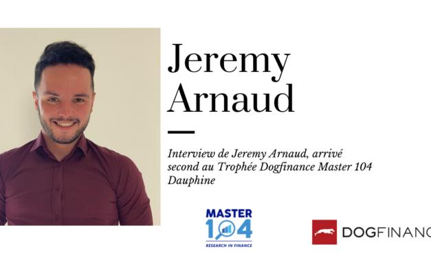 Découvrez l'interview de Jeremy Arnaud, arrivé second au Trophée Dogfinance Master 104 Dauphine