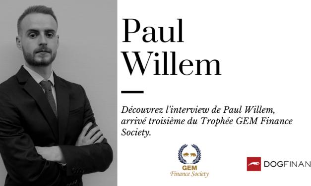 Découvrez l'interview de Paul Willem, arrivé troisième au Trophée GEM Finance Society