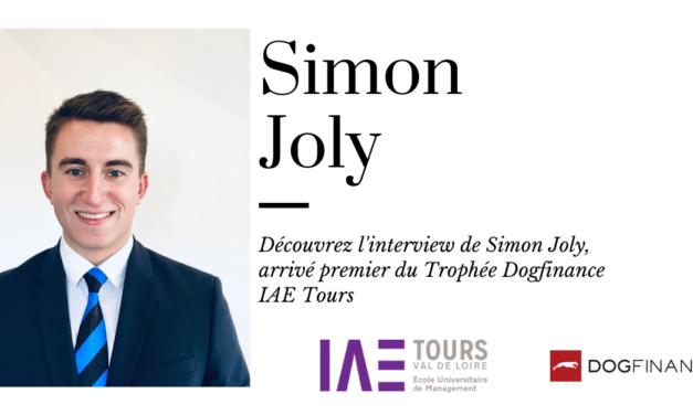 Découvrez l'interview de Simon Joly, arrivé premier du Trophée Dogfinance IAE Tours