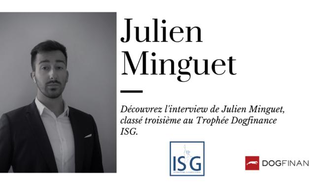 Découvrez l'interview de Julien Minguet, classé troisième au Trophée ISG
