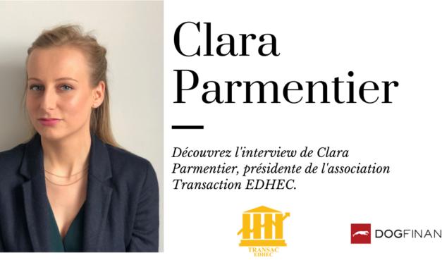 Découvrez l'interview de Clara Parmentier, présidente de l'association Transaction EDHEC