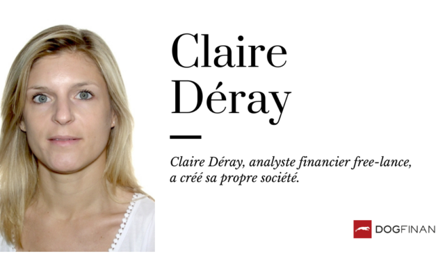 Claire Déray, analyste financier free-lance, a créé sa propre société