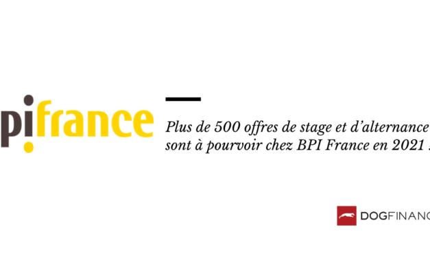Plus de 500 offres de stage et d'alternance sont à pourvoir chez BPI France en 2021 !