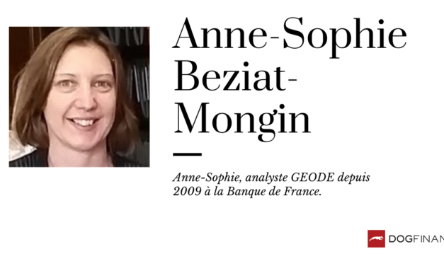 Anne-Sophie, analyste GEODE depuis 2009 à la Banque de France