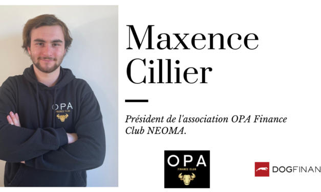 Maxence Cillier, président de l'association OPA Finance Club NEOMA