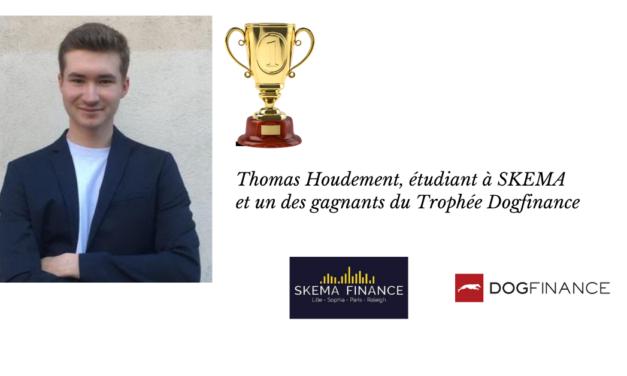 Thomas Houdement, étudient à SKEMA et un des gagnant du Trophée Dogfinance