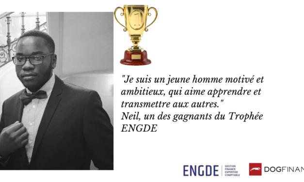 """""""Je suis un jeune homme motivé et ambitieux, qui aime apprendre et transmettre aux autres."""" Neil, un des gagnants du Trophée ENGDE"""