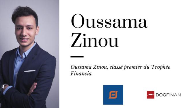 Oussama Zinou, classé premier du Trophée Financia