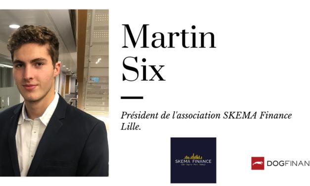 Martin Six, président de l'association de SKEMA Finance Lille