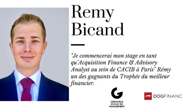 """""""Je commencerai mon stage en tant qu'Acquisition Finance & Advisory Analyst au sein de CACIB à Paris"""" Rémy un des gagnants du Trophée du meilleur financier"""